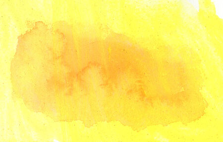 dabs: Abstract yellow watercolor background for your design