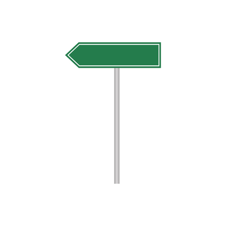 Street sign with place for text. Road signs. Vector illustration