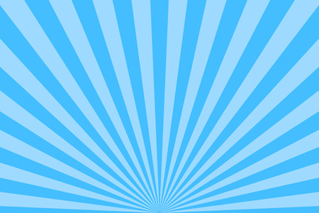 Blue abstract sun rays vector background