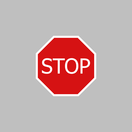 Stop sign vector icon