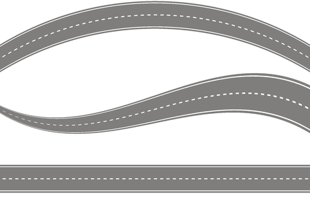 Set road icon vector Vektoros illusztráció