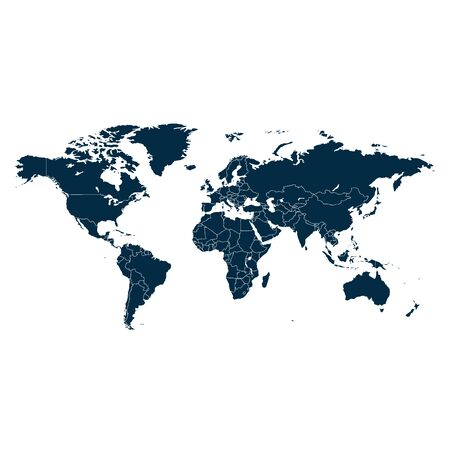 World map vector abstract illustration.