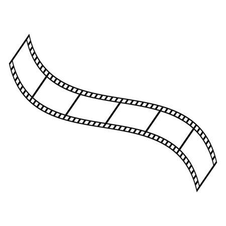 Film strip vector icon. Design vector illustration