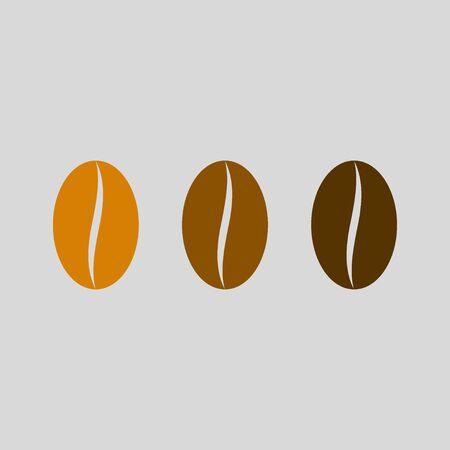 Coffee bean vector icon. Coffee Roasting. Vector illustration Illustration