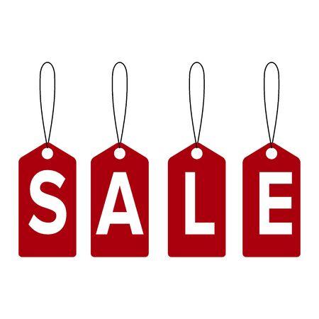 Sale banner template design, price tag icon. Ilustração