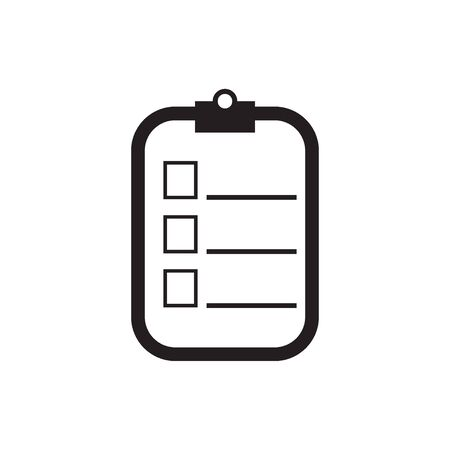 Checklist icon vector. Vector illustration