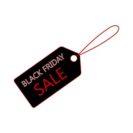 Sale banner template design, price tag icon. Black Friday sale.