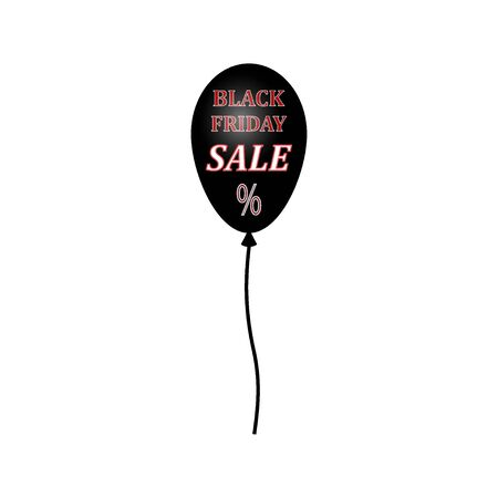 Sale banner template design, price tag icon. Black Friday sale. Black balloon.