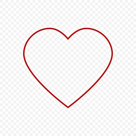 Heart vector icon. Concept of love. Vector design abstract illustration