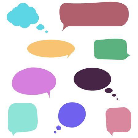 Sprachblasenvektorsatz