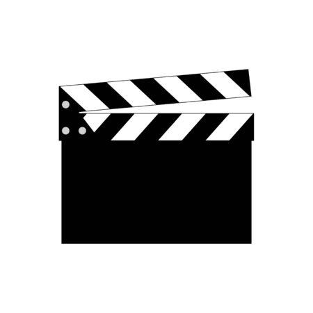 Movie clapper vector icon