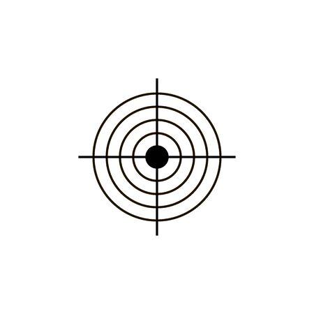 Aim target vector icon