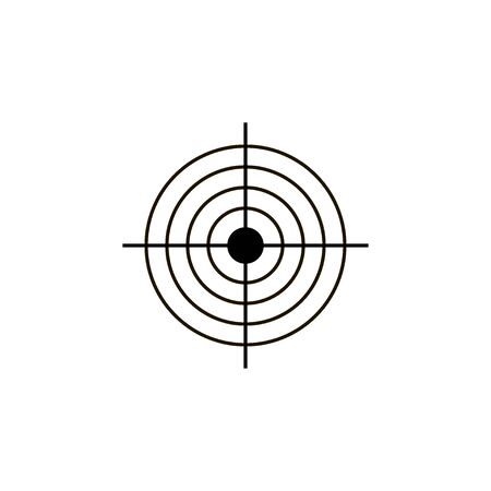 Objetivo icono de vector de destino