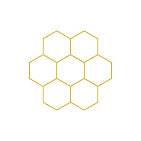 Honeycomb vector icon. Honey. Honeycomb bee Ilustração