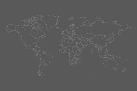 World map vector. Contour of world map