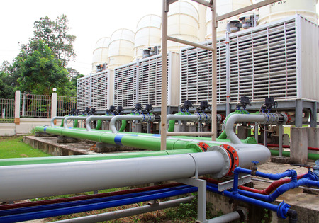 air condition plumbing cooling system Foto de archivo