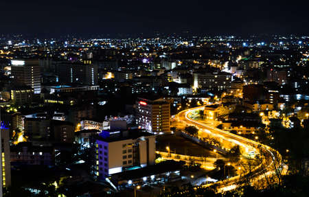 View point of Pattaya city at night,Thailand photo