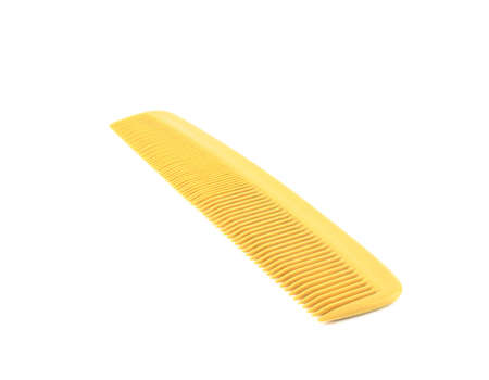 long handled: Close up of comb on white background