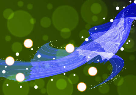 blue line abstract on green background photo