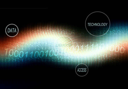 glowing technology abstract background photo