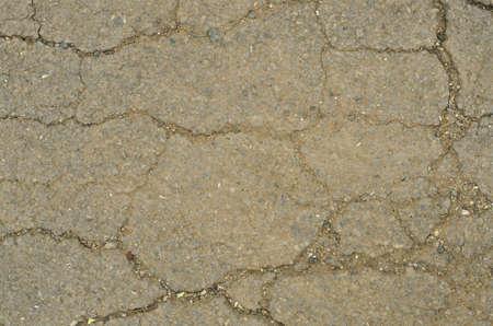 A crack of asphaltic road