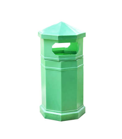 dirty recycle bin on white background Stock Photo - 15284766