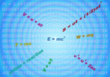 abstract of physical formulas for education background Stock Photo - 15284950