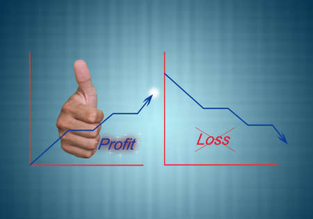 business concept loss and profit graph photo