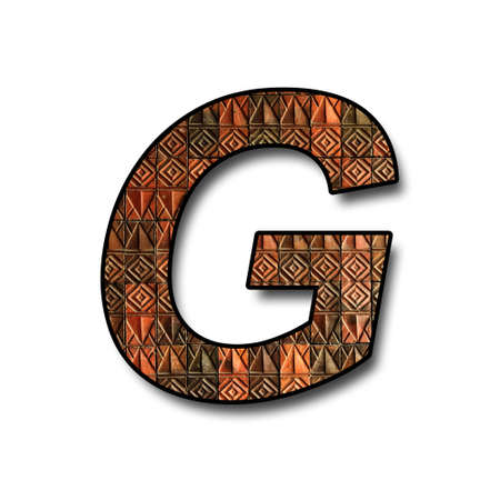 letter text g alphabet from wall texture Stock Photo