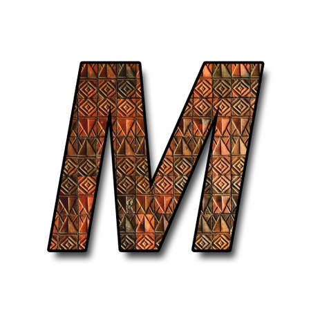 letter text m alphabet from wall texture photo
