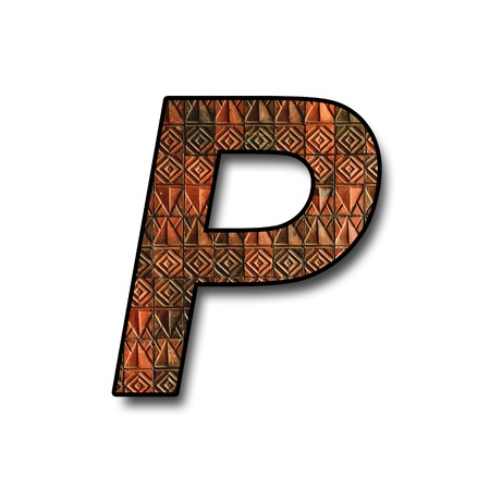 p buildings: letter text p alphabet from wall texture