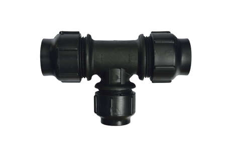 pipe connector: pipe fitting on white background