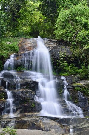beautiful waterfall in forest,Thailand