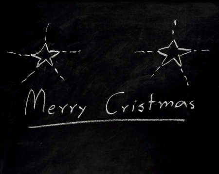 Christmas sign on blackboard