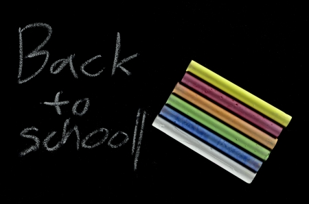 Back to school written on blackboard Stock Photo - 16601073