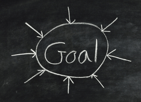 The word Goal,abstract written on a blackboard Stock Photo - 16798345