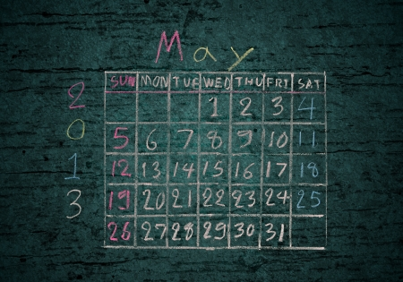 calendar May 2013 on grunge texture blackground photo