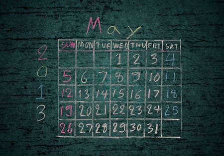 calendar May 2013 on grunge texture blackground Stock Photo