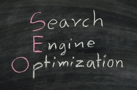 SEO,search engine optimization concept written on blackboard Stock Photo - 16798355
