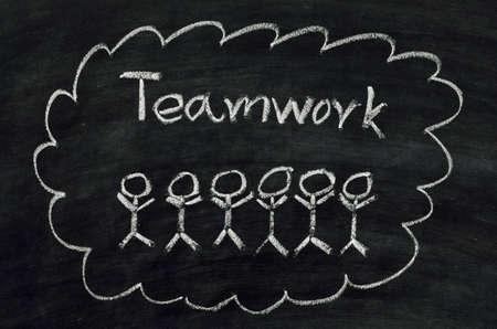 Teamwork concept written on blackboard Stock Photo - 16798360