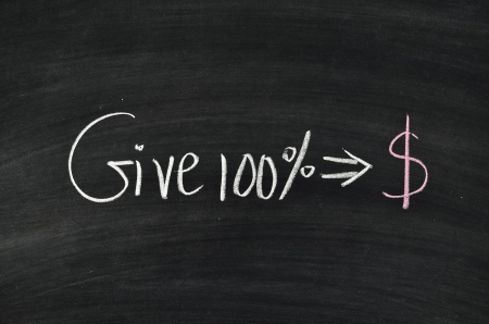 give 100% for make money on blackboard