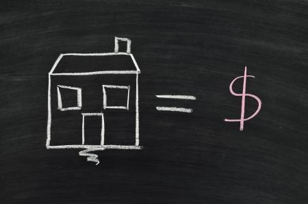home loan concept written on blackboard Stock Photo - 17376299