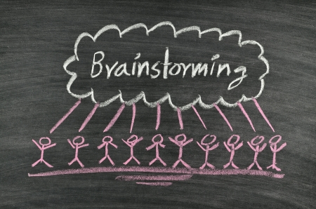 brainstorming concept written on blackboard Stock Photo - 17728569