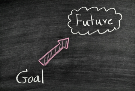 goal and future written on blackboard Stock Photo - 17728559