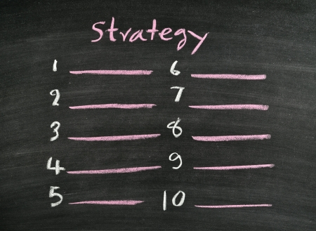 strategy listing on blackboard Stock Photo - 17728525