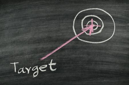 target drawing on blackboard Stock Photo - 17728533