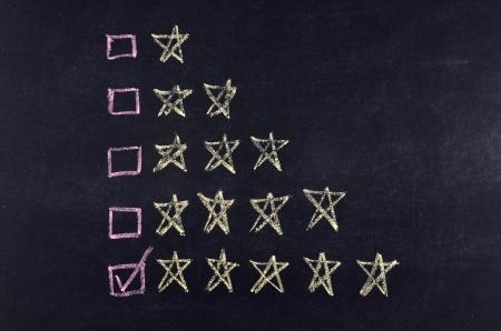 ticking 5 stars rating on blackboard