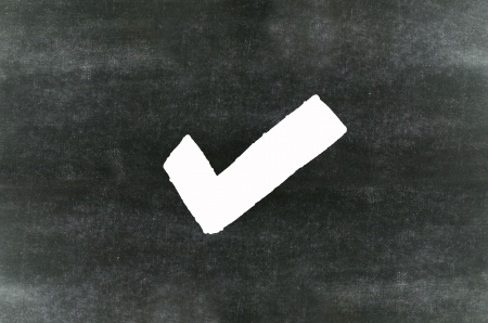 Checkmark Symbol And Wordexcellent Written On Blackboard Stock