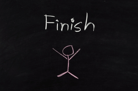 Finish written on blackboard