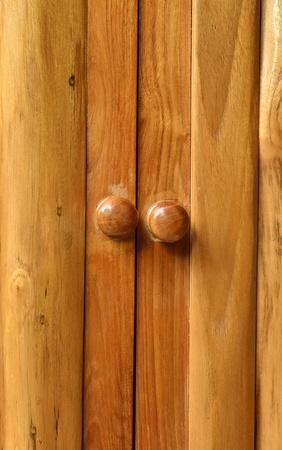 wooden orange door with handle photo